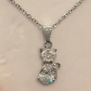 Jewelry - Brilliant crystal cat necklace